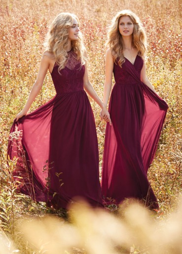 burgundy-draped-v-neck-sleeveless-a-line-chiffon-bridesmaid-dress-1
