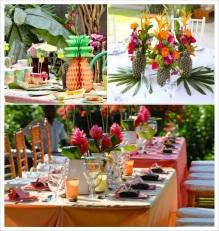 decoration-mariage-exotique-tropical-centre-table-ananas-papier-alveole