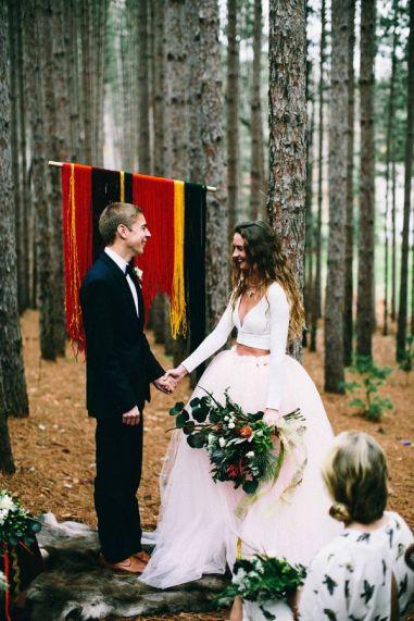 long-sleeve-crop-top-tulle-skirt-wedding-dress