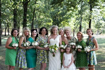loving-the-varied-assortment-of-bridesmaid-dresses-in-green-the-french-bouquet-amanda-geier-photography