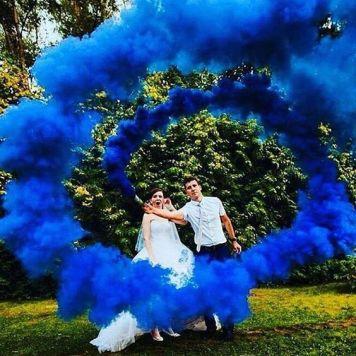 smoke bomb wedding photography (4)