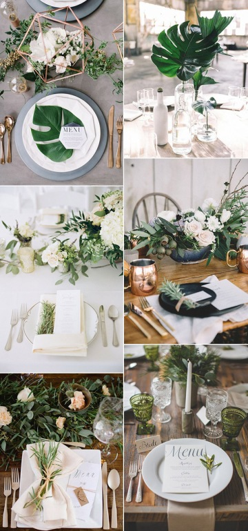 2017-trending-elegant-and-modern-greenery-wedding-ideas-for-centerpieces