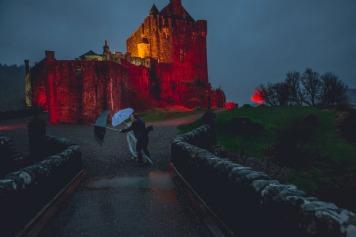Eilean Donan Castle Wedding - Scotland, Wedding Photographer, Rain