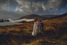 Wedding Photos - Scotland Highlands, Veil, Countryside