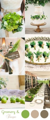 elegant-natural-greenery-and-taupe-wedding-color-ideas