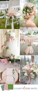 elegant-wedding-color-ideas-in-blush-and-green-for-2017