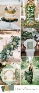 gold-and-green-spring-garden-wedding-color-ideas
