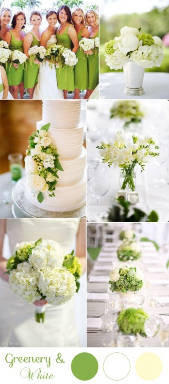 greenery-and-white-elegant-wedding-color-palette-for-2017-weddings