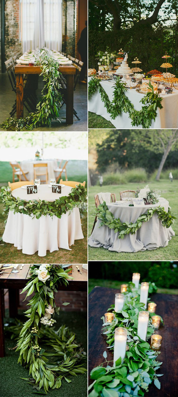 greenery-garland-wedding-runner-inspiration