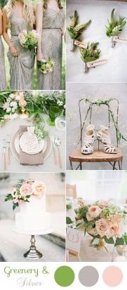 romantic-silver-and-greenery-neutral-wedding-colors-for-2017