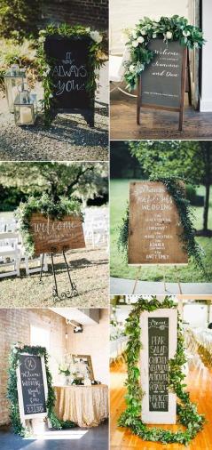 wedding-signs-ideas-with-greeenery-garland-decor1