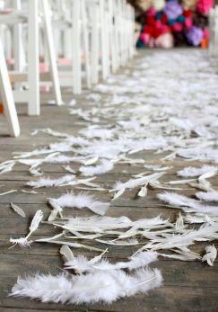 Penas/plumas para atirar aos noivos