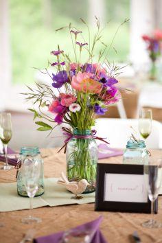 Pastel-Pink-Purple-Rustic-Wedding-Flower-Decors