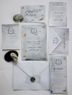Just-My-Type-Wedding-Invitation-Stationery-Design-NZ-Navy-Silver-Calligraphy-Monogram-Sea-13