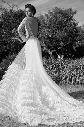 elihav-sasson-wedding-dress-2015-lace-long-sleeves-ultra-low-cut-back-sheath-bridal-gown-with-tulle-train