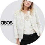 Asos fur white