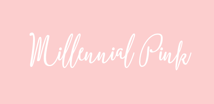 Millennial Pink Color