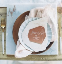 marble copper wedding inspirations (1)