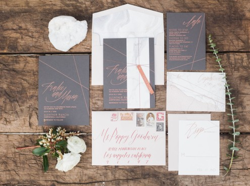 marble copper wedding inspirations (10)